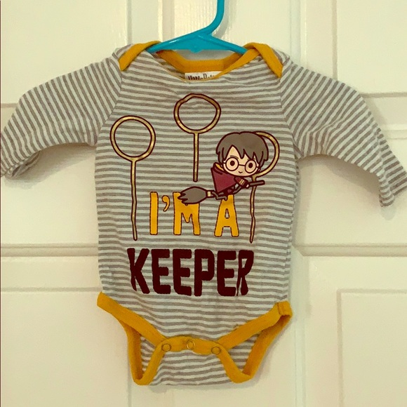 I/'m a Keeper Harry Potter Inspired Baby  Babygrow Bodysuit Baby Shower